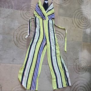 Strip summer jumpsuit racer back, new Small